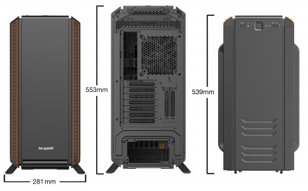 BE-QUIET! SILENT BASE 801 BLACK/ORANGE | VETRO - INSONORIZZATO - REVERSE/ATX + ATX
