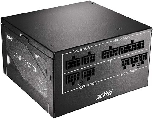 XPG CORE REACTOR 850 | 850W - 80PLUS GOLD - FULL MODULARE - 10Y GARANZIA